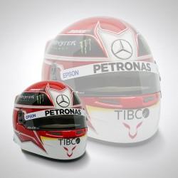 Mini casque 1/2 Lewis Hamilton 2019