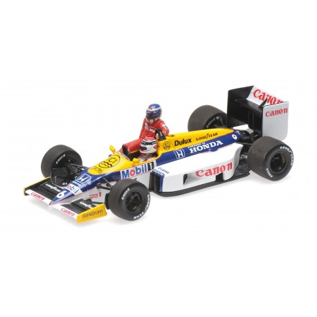 Williams Honda FW11 Keke Rosberg riding on Nelson Piquet
