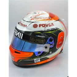2015 Romain Grosjean / Lotus race worn helmet
