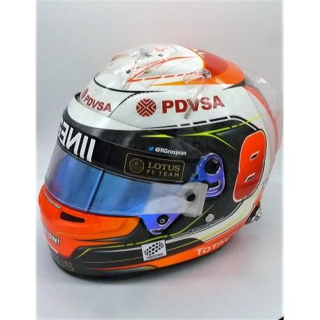 2015 Romain Grosjean / Lotus race worn helmet