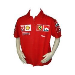 2003 Ferrari Polo Shirt with MARLBORO branding