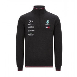 Mercedes AMG Mens half zip knitted jumper
