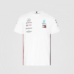 T-Shirt Team Mercedes AMG F1 blanc