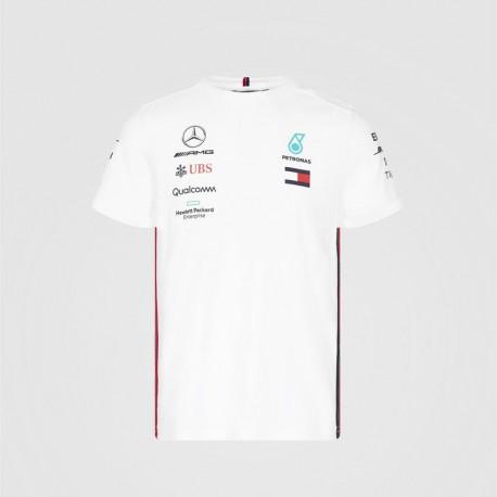 T-Shirt Team Mercedes AMG F1 blanc