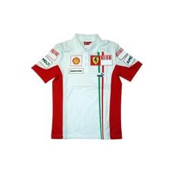2007 FERRARI Team-polo in white, new
