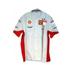 2007 FERRARI white Team Shirt