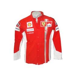 2007 FERRARI red Team Shirt, MARLBORO branded