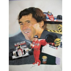 "Ayrton SENNA ""Le Poleman"" limited edition lithography"