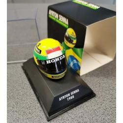 Casque Ayrton Senna 1988 échelle 1/8