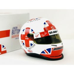 2009 Jenson Button / British GP limited edition 1/2 scale mini helmet
