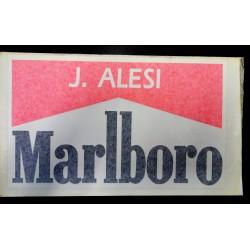 Authentic FERRARI / Jean ALESI sticker with drivers name
