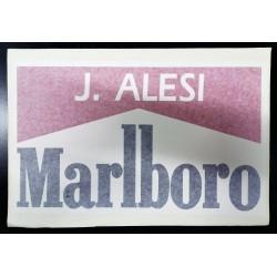 Authentic FERRARI 643 / Jean ALESI sticker with drivers name