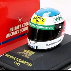 Mini casque 1991 M.Schumacher / Benetton échelle 1/8