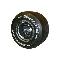 FORCE INDIA complete rear wheel (BBS/BRIDGESTONE)