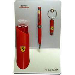 Ferrari Taillight ballpoint pen & keychain Set