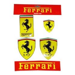 Set composé de 5 autocollants Ferrari