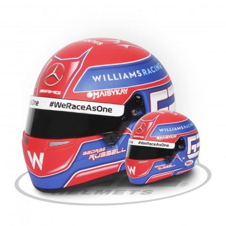 2021 George Russell 1/2 scale mini helmet
