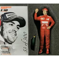 Fernando Alonso Ferrari Figurine