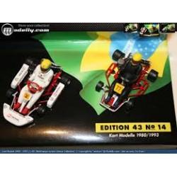 Ayrton Senna Kart models 1980 + 1993