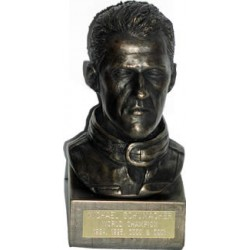 Michael Schumacher, bronze portrait
