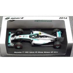 Mercedes F1 W05 N.Rosberg vainqueur GP de Monaco 2014