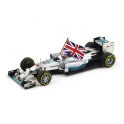 Mercedes W05 Lewis Hamilton Vainqueur du GP d'Abu Dhabi 2014