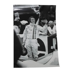 "Original black/white proof, taken from the official photographer of the movie ""Le Mans"" (nr.14)"
