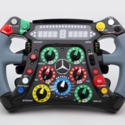 MERCEDES MGP W03 steering-wheel, scale 1/4th