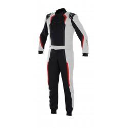 combinaison Karting KMX-5 noir/silver/rouge