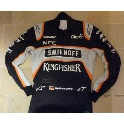 Combinaison dédicacée Nico Hülkenberg/Force India 2016