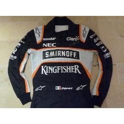 2016 signed Sergio Perez/Force India suit