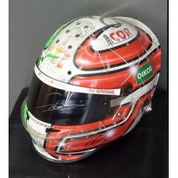 signed 2010 Vitantonio Luizzi/Force India helmet