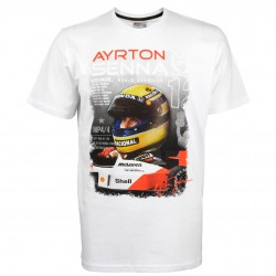 "T-Shirt Ayrton Senna ""World Champion 1988 / portrait avec casque"""