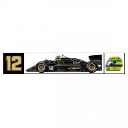 Ayrton Senna sticker Classic Team Lotus