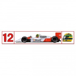 Autocollant Ayrton Senna McLaren