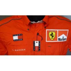 Chemise Ferrari personnelle de Luca Badoer avec Marlboro