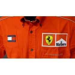 Chemise personnelle Ferrari de Rubens Barrichello avec Marlboro