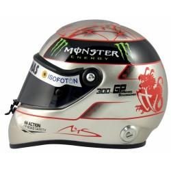 Mini casque Michael Schumacher 300ème GP échelle 1/2