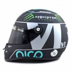 Mini casque 1/2 Nico Rosberg Champion du monde 2016
