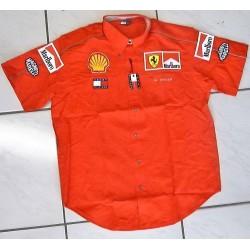 Chemise Ferrari personnelle de Willy Weber avec Marlboro