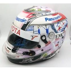 Signed 2009 Timo Glock Nürburgring GP race helmet