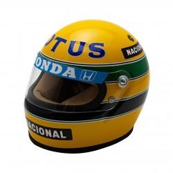 Mini casque Ayrton Senna 1987 échelle 1/2