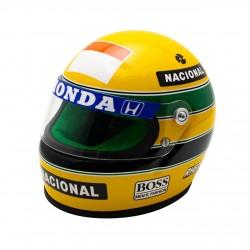 1990 Ayrton Senna mini helmet scale 1/2