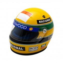1993 Ayrton Senna mini helmet scale 1/2