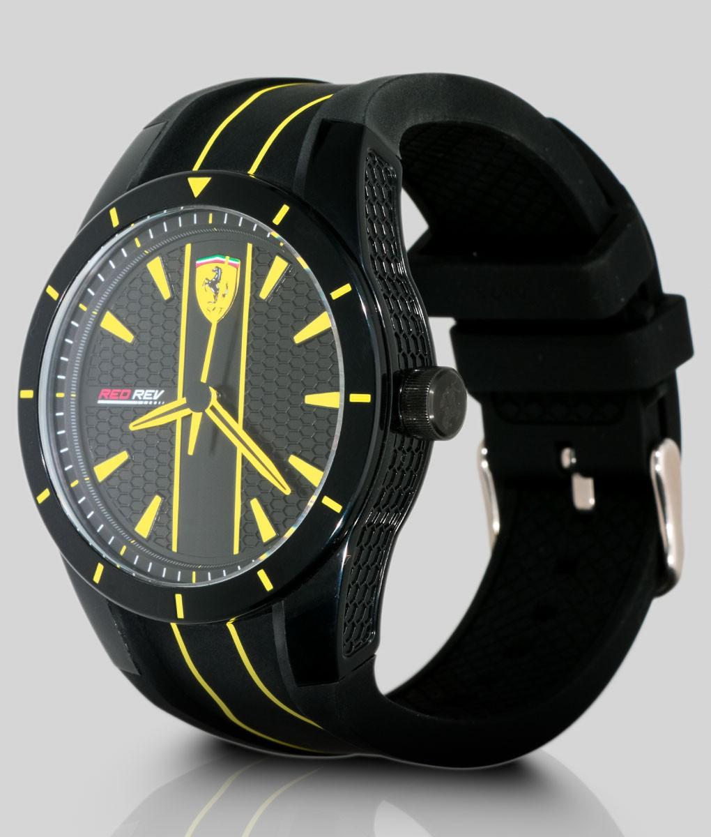 Ferrari Watch Redrev Quartz Black Yellow Formulasports