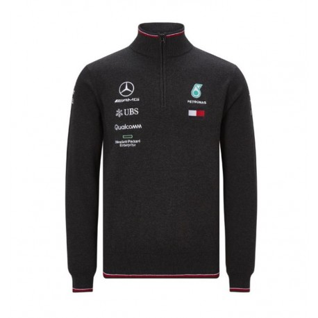Pull avec demi zip Mercedes AMG F1