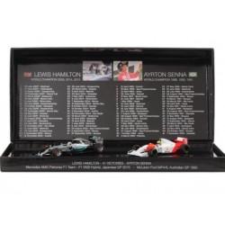2 Car Set Ayrton Senna / Lewis Hamilton 41 victories