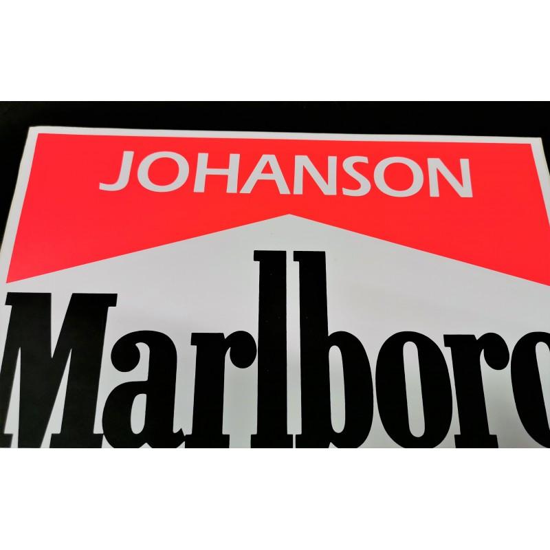 Authentic Ferrari S Johanson Sticker With Drivers Name Formulasports