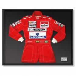 1991 Ayrton SENNA / Suzuka GP framed replica suit
