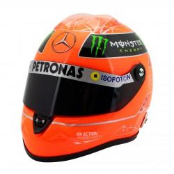 Mini casque 1/2 Michael SCHUMACHER 2012 dernier GP